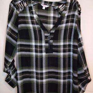Woman's plaid blouse